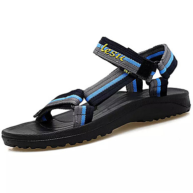 Pánské Sandály Pohodlné PU Léto Outdoor Plochá podrážka Černá/Červená Černá a modrá Zelená/černá Méně než 2.5 cm