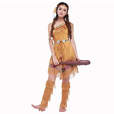 primitief Cosplay Kostuums Feestkostuum Vrouwelijk Festival/Feestdagen Halloweenkostuums Halloween Carnaval Nieuwjaar Effen