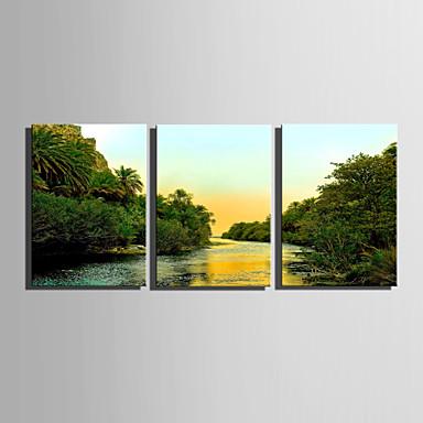 3 Painéis Tela de pintura Vertical Estampado Decoração de Parede Decoração para casa