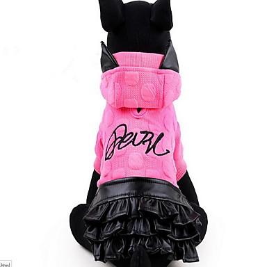 Hund Kleider Hundekleidung Prinzessin Gelb / Fuchsia PU-Leder / Baumwolle Kostüm Für Haustiere Damen