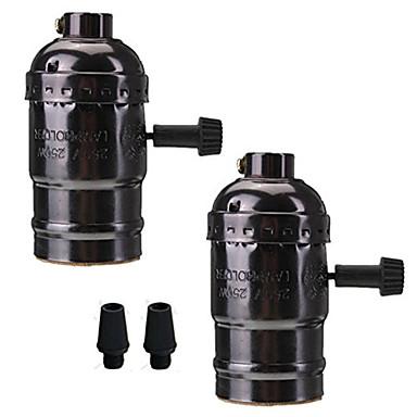 2 PC e26 / e27 Einfaßungsschraubenbirnen edison Retro- hängende Lampenhalter mit Schalter 110-240v für Lampe oder Befestigung Wiedereinbau