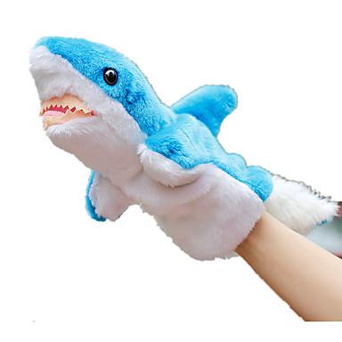 Fantoches Pelúcias Brinquedos Peixes Tubarão Animal marinho Animal Fofinho Animais Adorável Felpudo Tactel Crianças Peças
