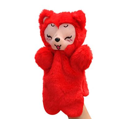 Fantoches de dedo Brinquedo Educativo Bonecas Pelúcias Brinquedos Raposa Animal Animais Tactel Crianças Peças