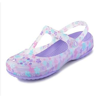 Damen Schuhe Silikon Frühling Komfort Gelee Loch Schuhe Sandalen Für Normal Purpur Rosa Hellblau