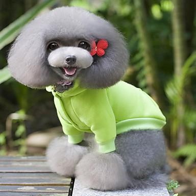 Cachorro Casacos Moletom Roupas para Cães Sólido Amarelo Vermelho Verde Azul Rosa claro Algodão Ocasiões Especiais Para animais de