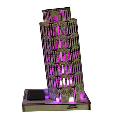 voordelige 3D-puzzels-Speelgoed op zonne-energie 3D-puzzels Toren Beroemd gebouw Scheve toren van Pisa Op Zonne-Energie DHZ Hout Kinderdag