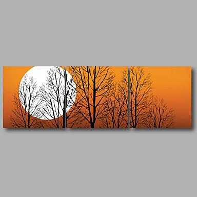 Aufgespannte Leinwandrucke Landschaft Modern, Drei Paneele Segeltuch Horizontal Druck Wand Dekoration Haus Dekoration