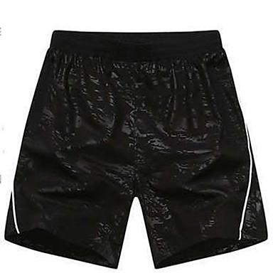 Herrn Laufschuhe Rasche Trocknung Atmungsaktiv Shorts/Laufshorts Unten für Übung & Fitness Basketball Laufen Polyester Schwarz XS M L XL