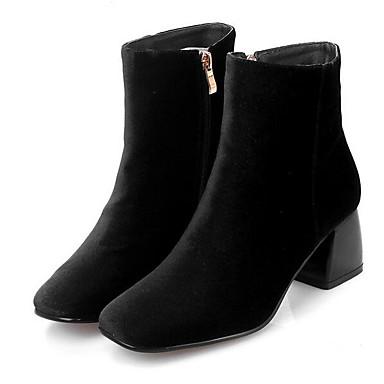 Naiset Bootsit Mokkanahka Kevät Musta Punainen Tasapohja
