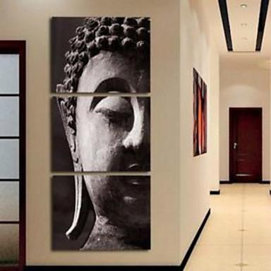 Reprodukce umění Abstraktní portrét tradiční,Tři panely Vertikální Grafika Wall Decor For Home dekorace
