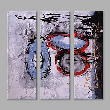 Pintados à mão Abstrato Panorâmico vertical, Abstracto Arte Deco/Retro Moderno/Contemporâneo Tela de pintura Pintura a Óleo Decoração