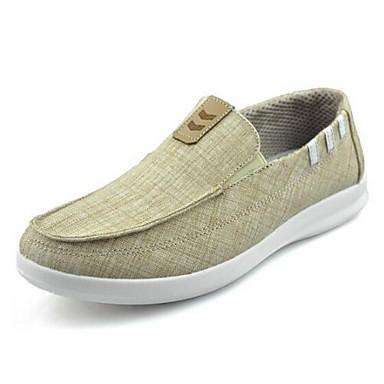 Herren Loafers & Slip-Ons Komfort Stoff Frühling Sommer Normal Walking Komfort Flacher Absatz Grau Kamel 2,5 - 4,5 cm
