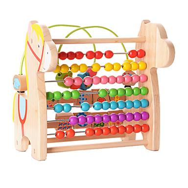 Brinquedo Educativo Brinquedos Cavalo Madeira Unisexo Peças