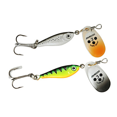 4 pcs Spoons Sequin Sea Fishing / Bait Casting / Spinning / Jigging Fishing / Freshwater Fishing / Bass Fishing / Lure Fishing / General Fishing