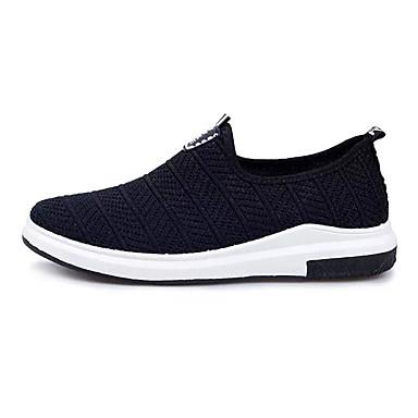 Homens sapatos Couro Ecológico Primavera Outono Conforto Mocassins e Slip-Ons Caminhada Vazados para Atlético Preto Cinzento Azul