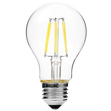 BRELONG® 1pç 6W 450lm E27 Lâmpadas de Filamento de LED A60(A19) 6 Contas LED COB Regulável Branco Quente Branco 200-240V
