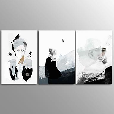 Canvastaulu Abstrakti,3 paneeli Kanvas Horizontal Painettu Wall Decor For Kodinsisustus