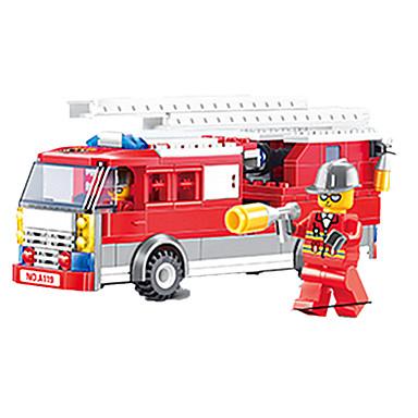 JIE STAR Carros de Brinquedo Blocos de Construir Caminhão de Bombeiro Quadrada Caminhões de Bombeiros Para Meninos Unisexo Dom