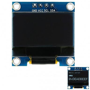 0,96 128x64 i2c interface cor branca módulo de exibição oled para arduino