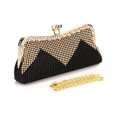 Women's Bags PVC(PolyVinyl Chloride) Evening Bag Rhinestone / Sequin Solid Colored Light Green / Coffee / Red