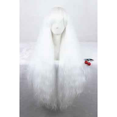 Syntetické paruky / Paruky ke kostýmům Kudrny Umělé vlasy Bílá Paruka Dámské Bez krytky