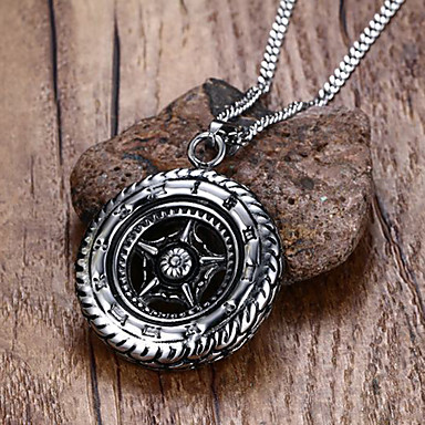 Men's Star Stainless Steel Pendant Necklace Statement Necklace - Personalized Statement Euramerican Hip-Hop Fashion Rock Punk Circle
