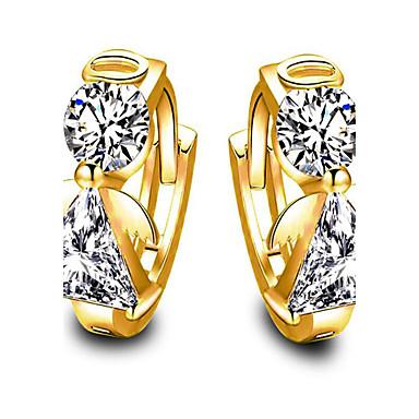 Dámské Náušnice - Kruhy Syntetický diamant Kubický zirkon Módní Pozlacené Křídla / Peří Šperky Gratulace Dar Denní