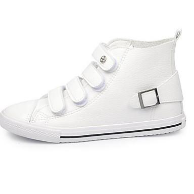 Naiset Kengät PU Kevät Comfort Tasapohjakengät Käyttötarkoitus Kausaliteetti Valkoinen