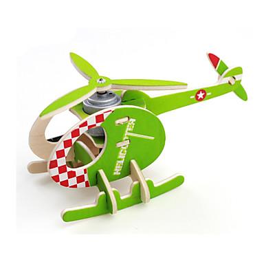 Puzzle 3D puzzle Stavební bloky DIY hračky Dřevo Modelování