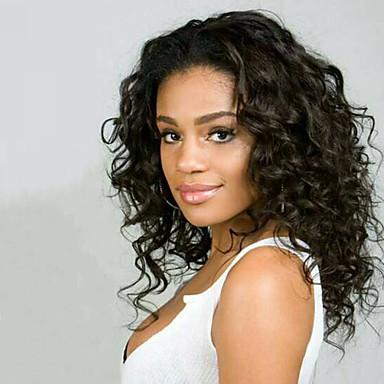 Damen Echthaar Perücken mit Spitze Haare mit intakter Kutikula (Remy Hair) Vollspitze Ohne Klebstoff und volle Spitze 130% Dichte Große