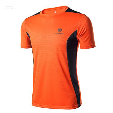 Homens Camiseta de Corrida para Acampar e Caminhar / Exercício e Atividade Física / Corridas / Corrida / De Excursionismo Poliéster Preto