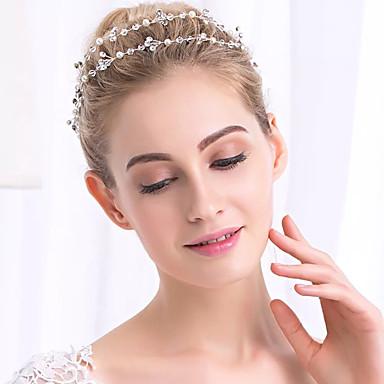 Pérola Cristal Headbands Cadeia da cabeça 1 Casamento Ocasião Especial Capacete