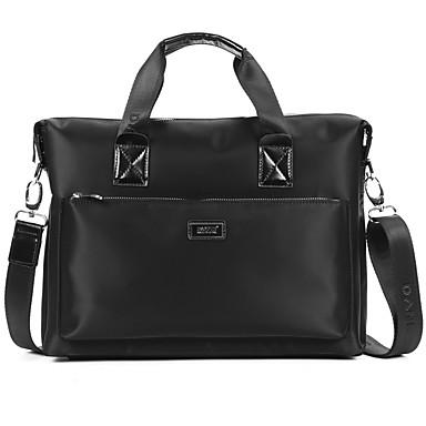 Herren Taschen Oxford Tuch Aktentasche Sanft für Normal Formal Schultaschen Verabredung Arbeit Ganzjährig Schwarz
