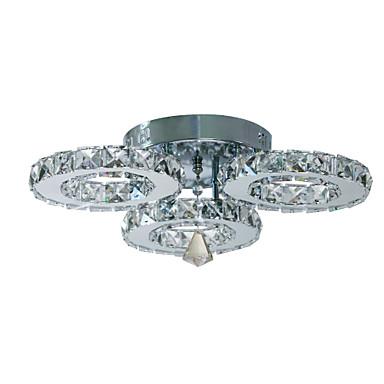 Mennyezeti lámpa Háttérfény Galvanizált Fém Kristály 90-240 V Meleg fehér / Fehér LED fényforrás / Beépített LED