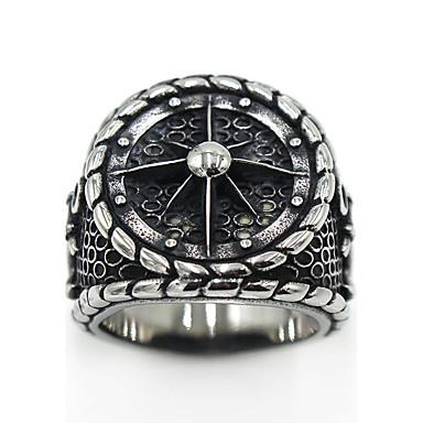 voordelige Dames Sieraden-Heren Dames Ring duimring Zilver Roestvast staal Titanium Staal Cirkelvorm Dames Gothic Speciale gelegenheden Feest / Uitgaan Sieraden Logo Gegraveerd