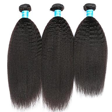 Perui haj Göndör egyenes Emberi haj sző 3 darab Az emberi haj sző
