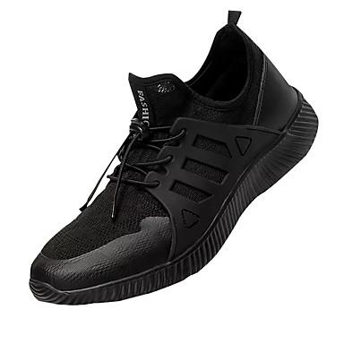 Homens sapatos Tule Primavera Outono Tênis Cadarço para Preto Cinzento Claro Verde Tropa
