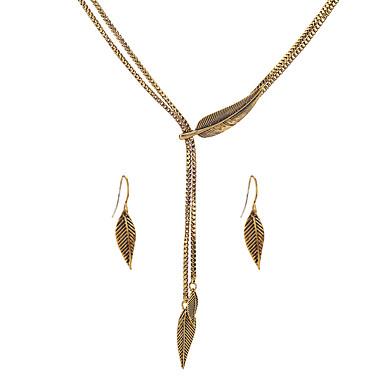 Női Ékszer szett - Leaf Shape Egyedi, Euramerican tartalmaz Arany / Ezüst Kompatibilitás Parti Évforduló Ajándék