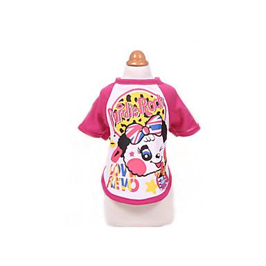 T-shirt Hundekleidung Atmungsaktiv Niedlich Lässig/Alltäglich Sport Cartoon Design Purpur Fuchsia Kostüm Für Haustiere