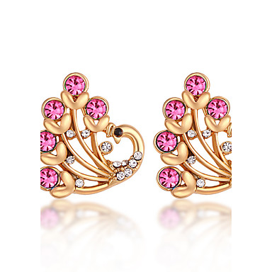 Dámské Náušnice Šperky Přizpůsobeno Módní Euramerican Štras Slitina Šperky Šperky Pro Svatební Párty