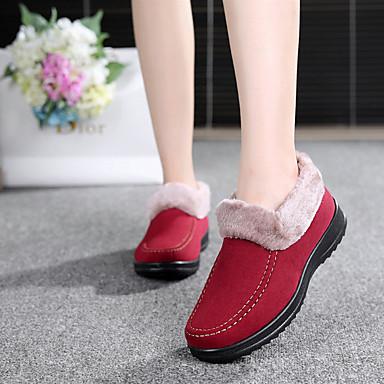 Damen Schuhe PU Winter Fersenriemen Stiefel Blockabsatz Für Normal Gelb Braun Rot