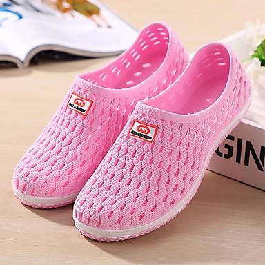Unisex Sandaalit Comfort Kumi PU Kevät Kausaliteetti Musta Sininen Pinkki Tasapohja