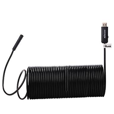 Kkmoon 5.5mm 2-em-1 usb2.0 micro usb endoscópio impermeável handheld borescope inspection camera 0.3 megapixel 15m