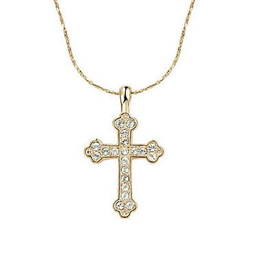 Damen Kreuz Gestalten Modisch Kreuz Anhängerketten vergoldet Anhängerketten Alltag Modeschmuck