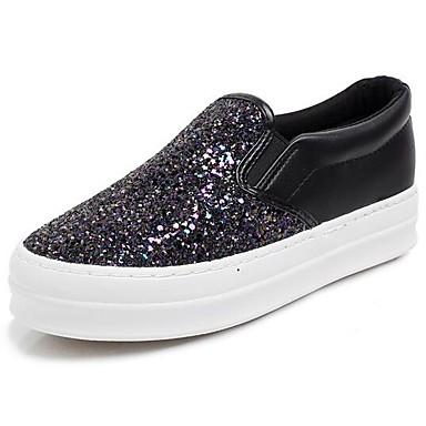 Naiset Sandaalit Kevät Glitter Musta Purppura Tasapohja