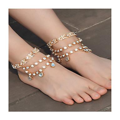 voordelige Lichaamssieraden-Dames Blote voeten sandalen Imitatieparel Strik Modieus Enkelring  Sieraden Goud / Zilver Voor Dagelijks Causaal / Strass