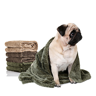 Gato Cachorro Camas Animais de Estimação Mantas Sólido Manter Quente Portátil Dobrável Macio Durável Marron Verde Khaki