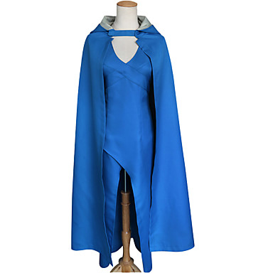 Game of Thrones Queen Daenerys Targaryen Dress Cosplay Costume Cloak Women's Movie Cosplay Dress More Accessories Halloween