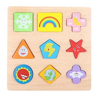Quebra-Cabeça Quebra-Cabeças de Madeira Brinquedo Educativo Quadrada De madeira Crianças Dom