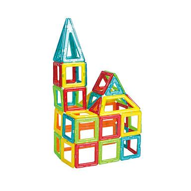 Blocos Magnéticos Blocos de Construir Brinquedos de Montar 30pcs Quadrada Triângulo Magnética Para Meninas Para Meninos Brinquedos Dom